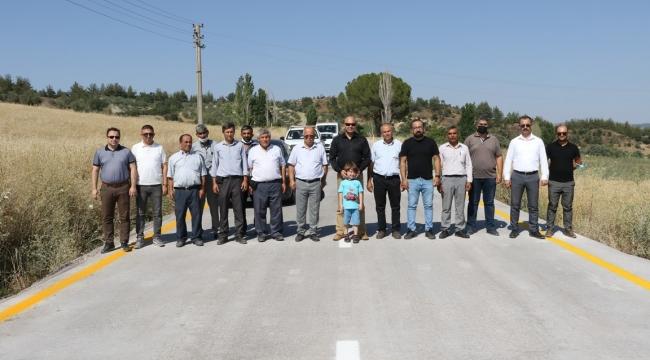 Beton Yol Gördes'le Salihli'yi Bağlıyor