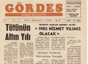 Gördes Gazetesi 34. Yılında