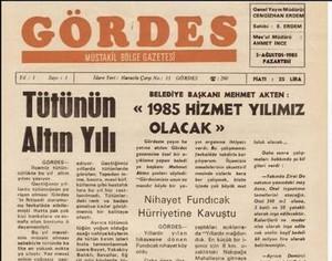 Gördes Gazetesi 36.Yılında