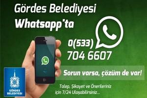 Gördes Belediyesinden WhatsApp İletişim Hattı